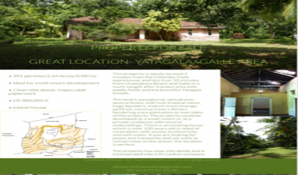 Sri Lanka Properties - Apartments, Houses, Lands for Sale