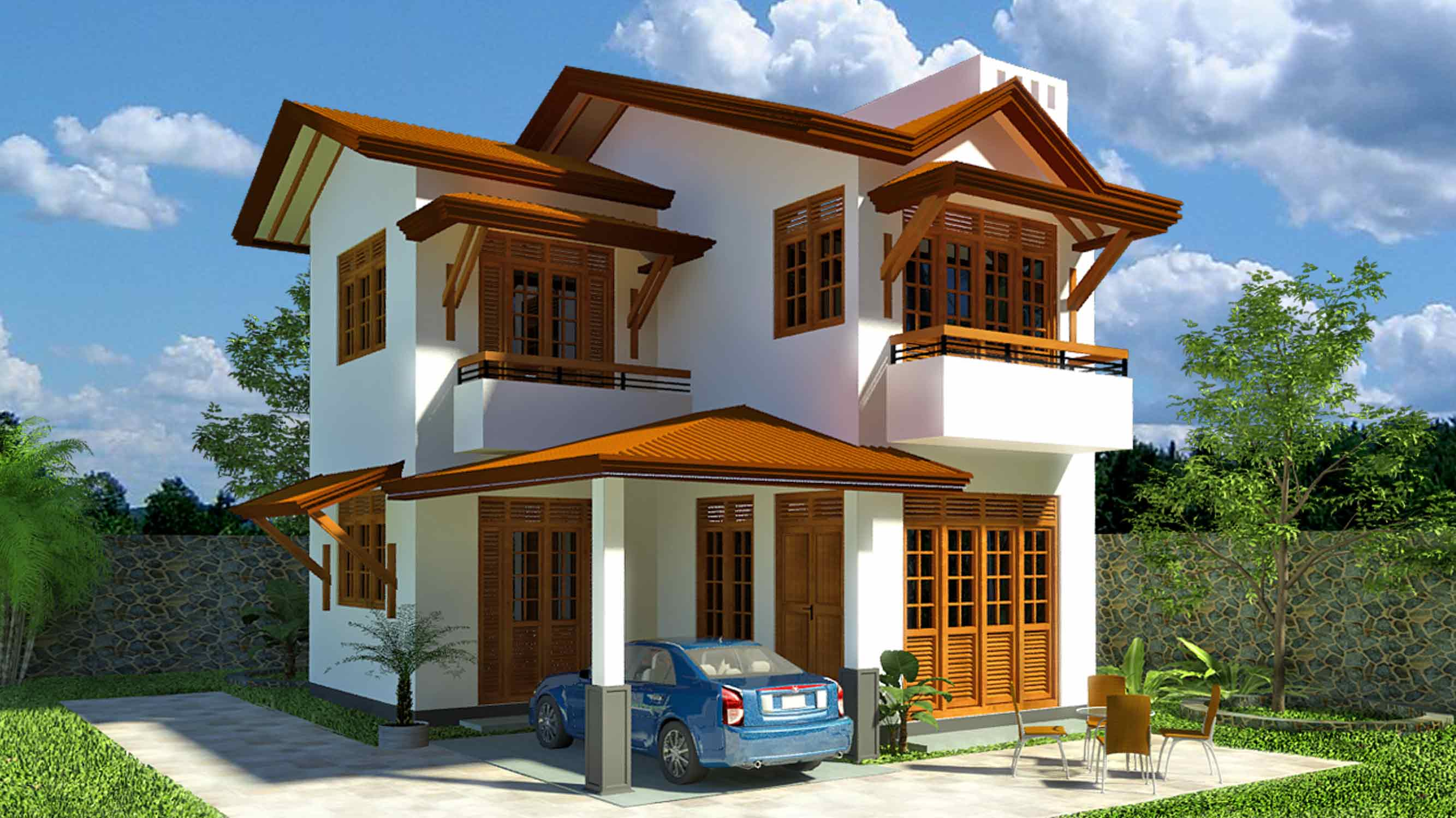 Anyway for you here home landscape design sri lanka for Vajira house home plan