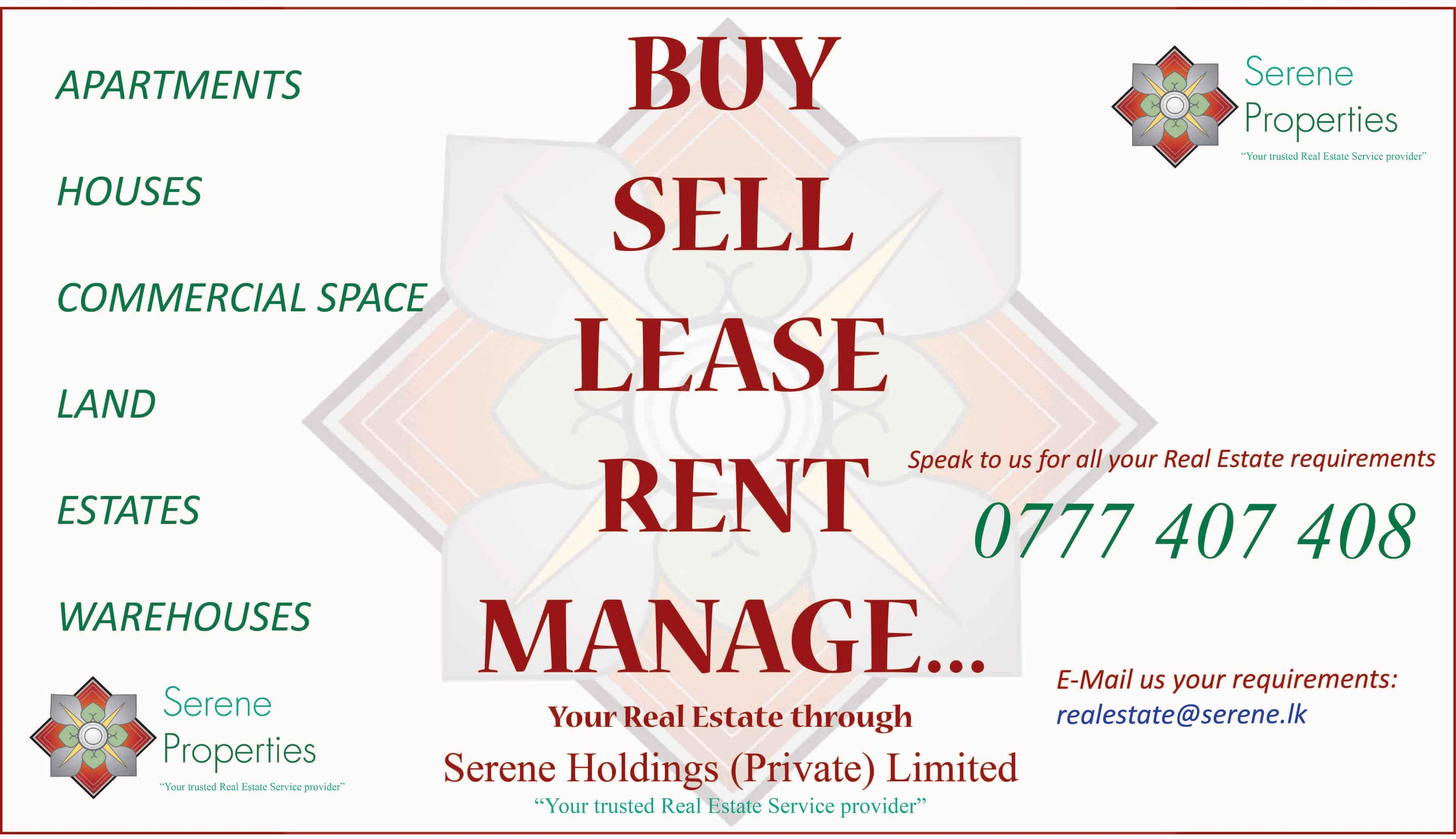 Colombo, Suburbs estate agents for Sales, Rentals, Commercial Property,  Land.