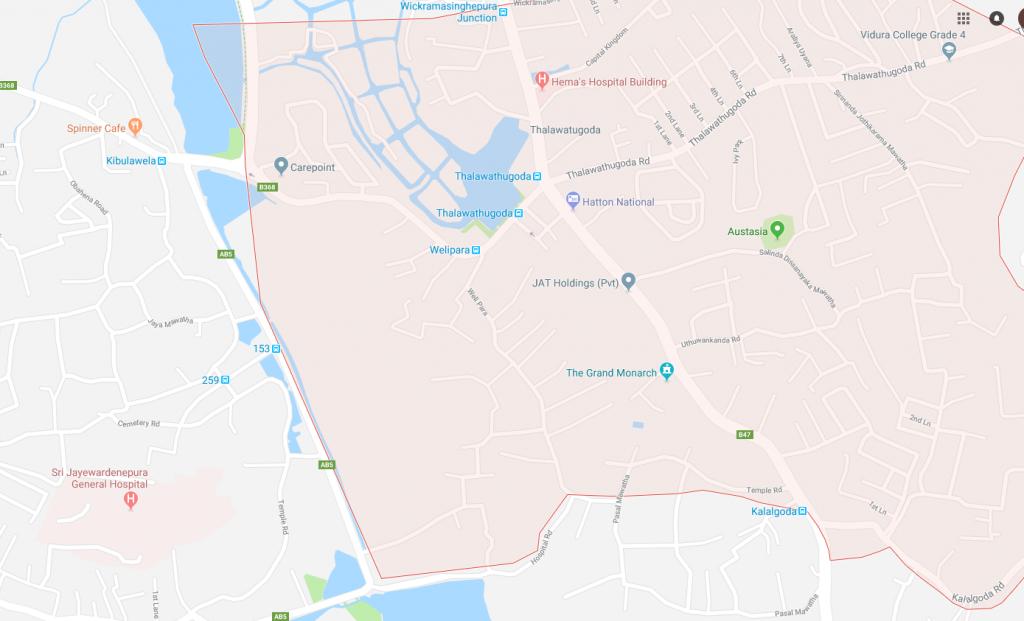 Talawatugoda, Google Maps