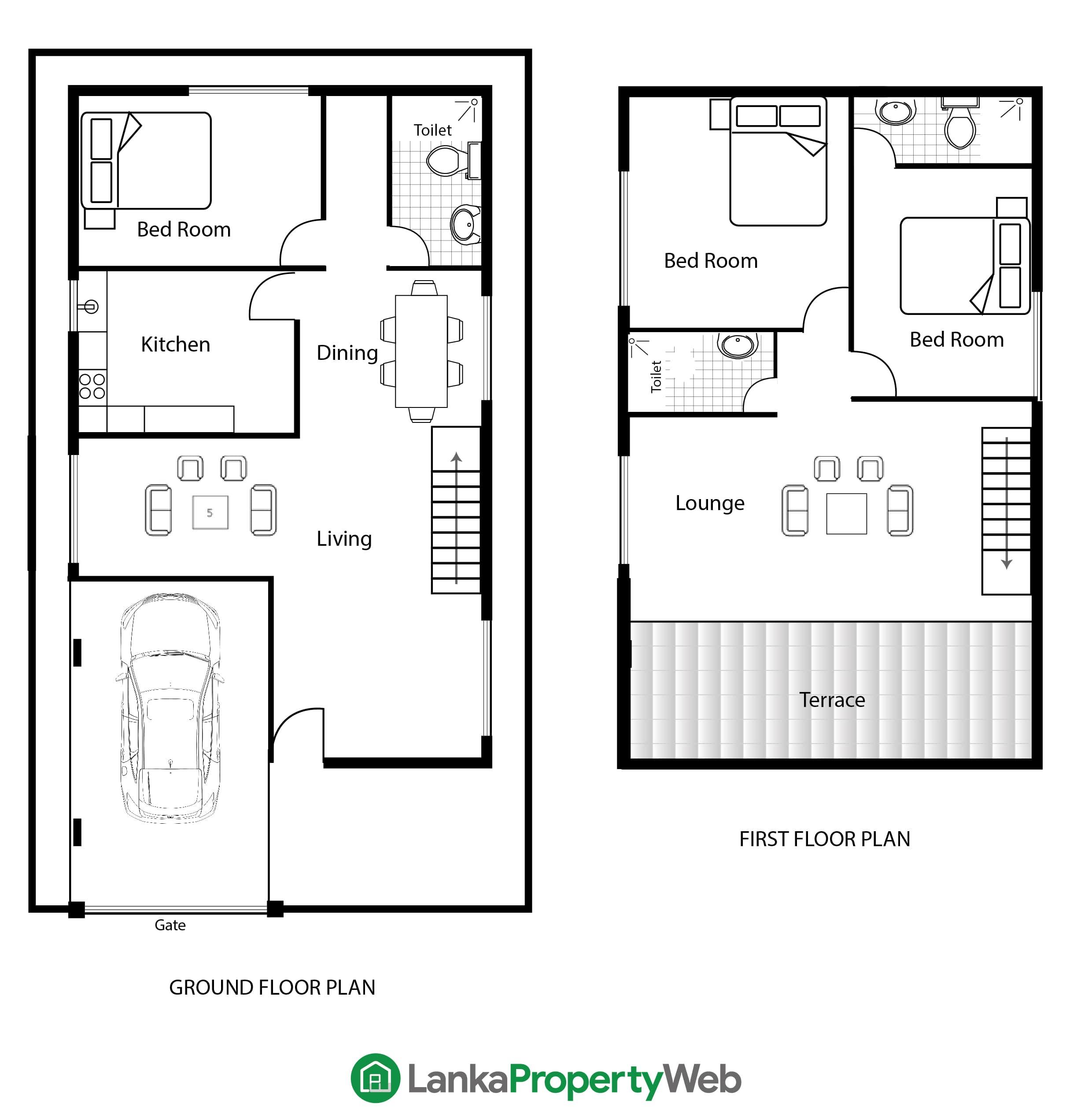 Duplex / Semi-detached house plan
