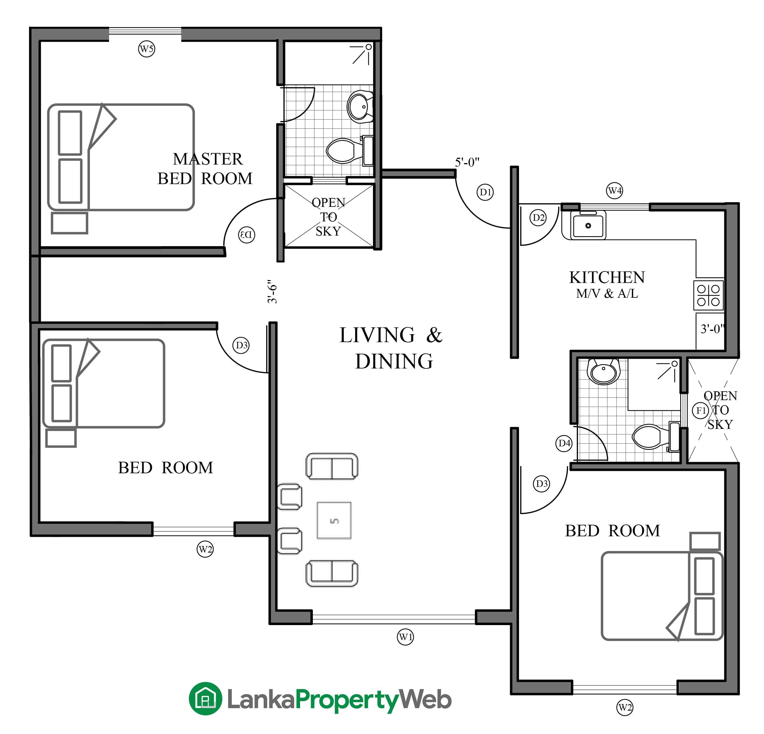 A single house plan
