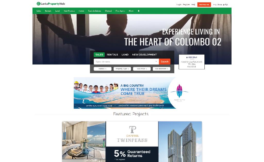 website for real estate marketing
